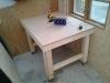 Byg et mobilt arbejdsbord til skuret - Så er bordet kommet ind i sit midlertidige hjørne