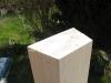 Toppen til den indvendige del af støbeformen er skåret til i 15 grader ned mod midten.
