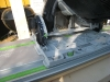 Festool dyksaven indstilles til et snit på 15 grader