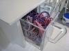 DIY Hylde til hårpynt - Skufferne er fyldte med hår-elastikker