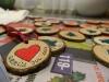 Hjemmelavet julekort, med en lille gave - Glædelig jul 2012