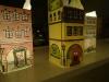 Hjemmelavet Juleby - Fin ser den ud med malet facader i tusch