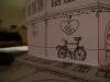 Hjemmelavet Juleby - Lille fin cykel parkeret op af Julehuset