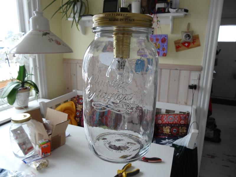 glasskærm til lampe