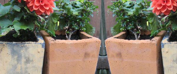 Arbejdstegning for støbeform til de små potter