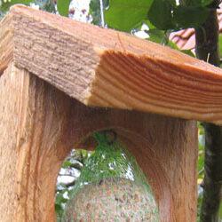 Fuglekuglefoderhus Ver.1 - foderbræt til fuglene i haven