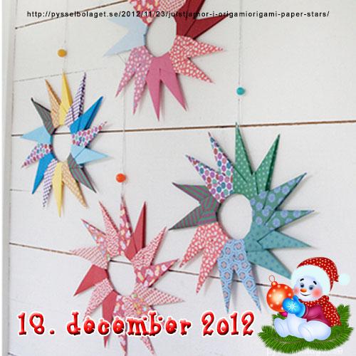 DIY julestjerner af papir