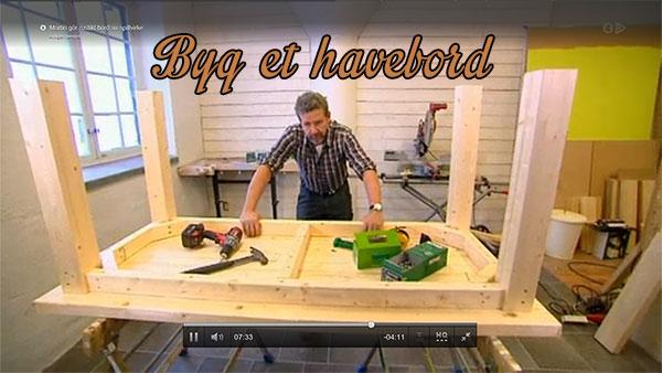 Gør Det Selv til Hus, Have og køkken | Byg et havebord