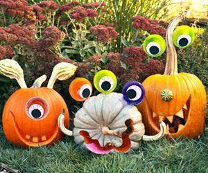 Græskar til Allehelgensaften / Halloween - et par tossehoveder