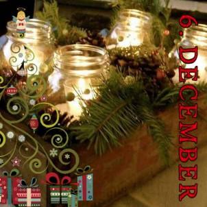 DIY julegave 6 – Råhygge med levende lys