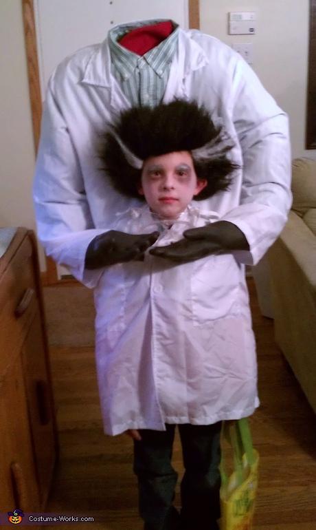 Udklædning til Fastelavn - Sjove kostumer - den gale professor - uden hovedet