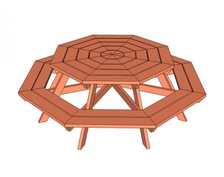Byg en havebænk i træ   bord/bænkesæt