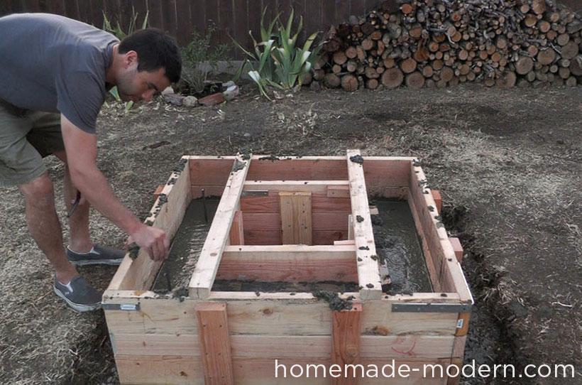 Byg et hjemmelavet bålsted til haven i cement