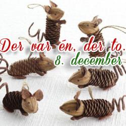 hjemmelavet julepynt af grankogler og valnødder