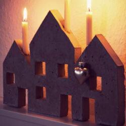 Støb nogle flotte lysestager i beton