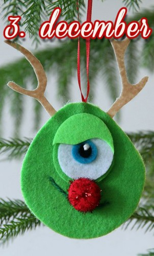 Hjemmelavet julepynt – Monsters Rudolf