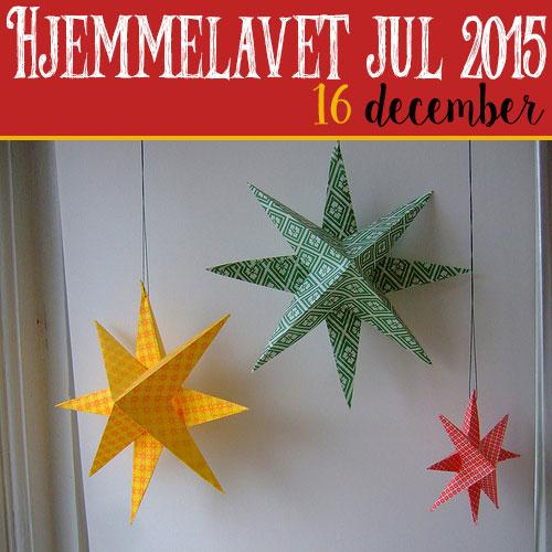 Hjemmelavet julepynt – 3D julestjerne i papir