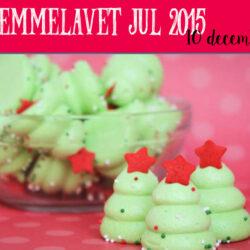 Hjemmelavede juletræs marengs kager