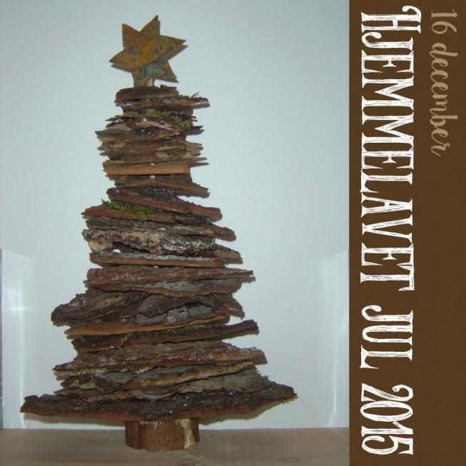 Hjemmelavet Julepynt – Bark juletræ
