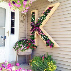 Byg en bogstavs blomsterkasse